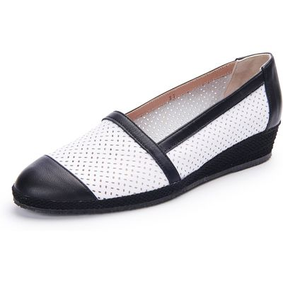 Slip-ons featuring a fashionable pattern Peter Hahn exquisit white