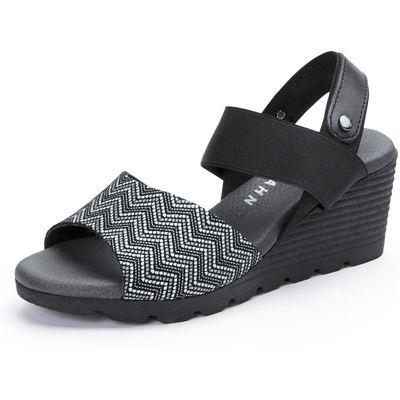 Sandals with a wedge heel from Peter Hahn black