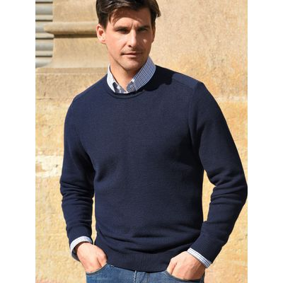 Round neck pullover from Louis Sayn blue