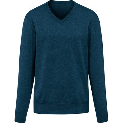 V-neck jumper in 100% cashmere - Design VALENTIN Peter Hahn Cashmere green