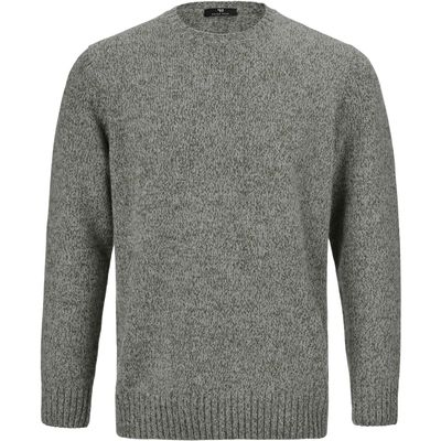 Round neck pullover in 100% wool Peter Hahn green