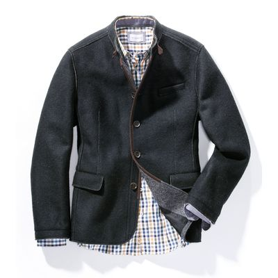 Milled wool country style jacket from Steinbock grey