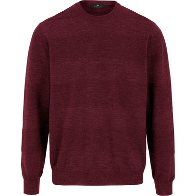 Round neck jumper in 100% new milled wool Peter Hahn red