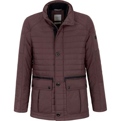 Quilted jacket for between seasons Bugatti red