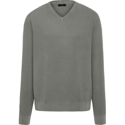 V-neck jumper Peter Hahn green