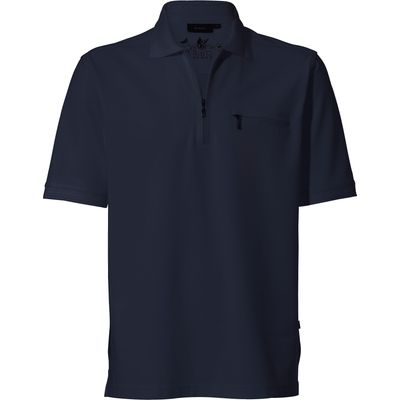 Easy-care polo shirt 1/2-length sleeves HAJO blue