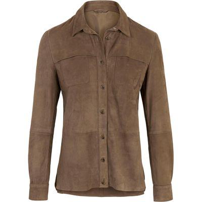 Leather shirt Inkadoro beige