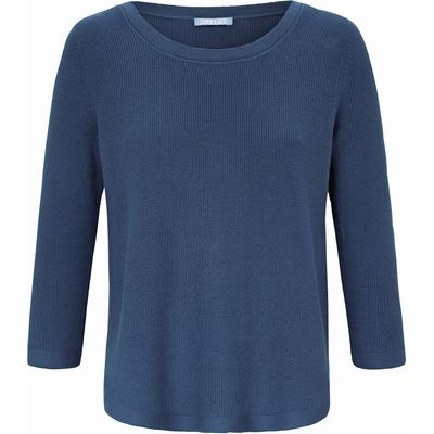 Round neck jumper 3/4-length sleeves DAY.LIKE blue