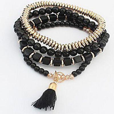 Multi layer Elasticity Alloy Bracelet Chain  Link Bracelets Daily / Casual 1pc