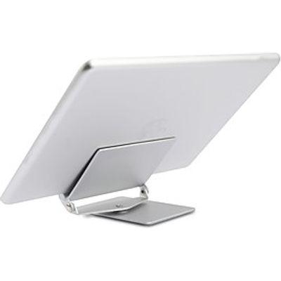 tablet stand Metal Desk Table tablet holder Adjustable Flexible Portable 360 Rotating Folding Silver