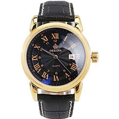 Men's Fashion Watch Mechanical Watch Chinese Quartz Automatic self-winding Leather Band Black Silver