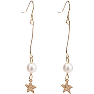 Women's Drop Earrings Imitation Pearl Dangling Style Alloy Star Jewelry For Anniversary Event/Party