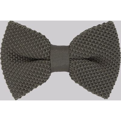 Moss London Khaki Knitted Bow Tie