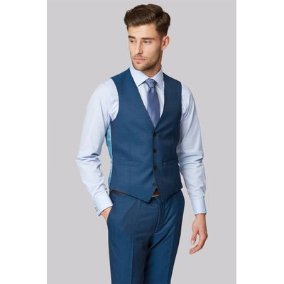 Moss 1851 Tailored Fit Teal Waistcoat