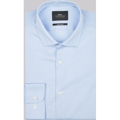Moss London Extra Slim Fit Sky Single Cuff Stretch Shirt