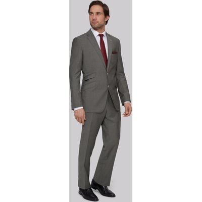 Moss Bros Regular Fit Grey Twill Suit