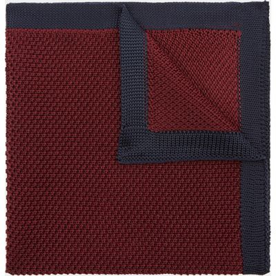Moss London Wine Knitted Pocket Square