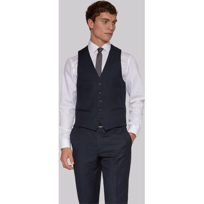 DKNY Slim Fit Navy Birdseye Waistcoat