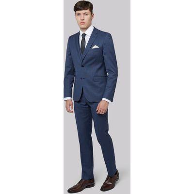 DKNY Slim Fit Blue Pinhead Jacket