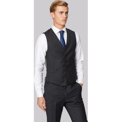 Hardy Amies Tailored Fit Grey Clear Cut Waistcoat
