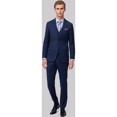 Hardy Amies Tailored Fit Navy Birdseye Jacket