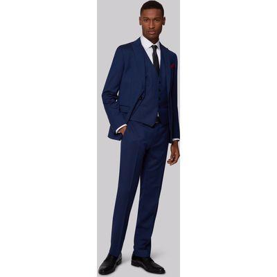 DKNY Slim Fit Blue Textured Jacket