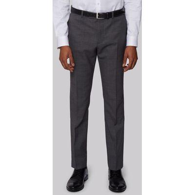 DKNY Slim Fit Charcoal Nailhead Trousers