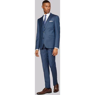 DKNY Slim Fit Blue Sharkskin Jacket