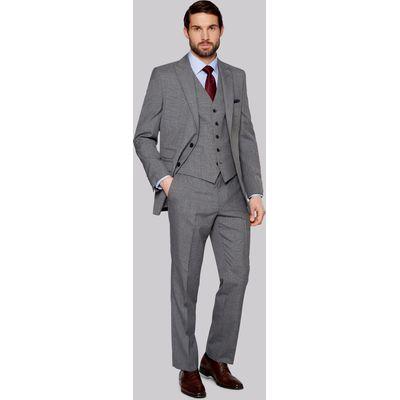 Moss Esq. Regular Fit Light Grey Check Jacket