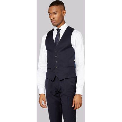 DKNY Slim Fit Navy Twill Waistcoat