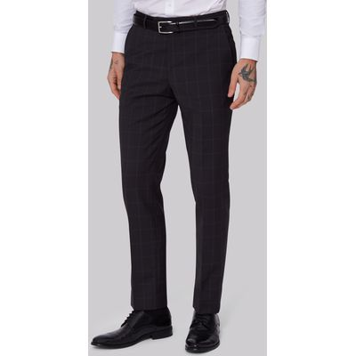 Lanificio F.lli Cerruti Dal 1881 Cloth Tailored Fit Dark Grey Check Trousers