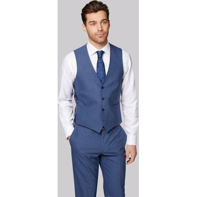 Moss 1851 Performance Tailored Fit Faded Blue Waistcoat