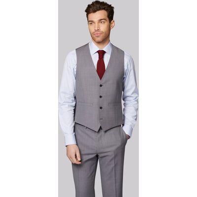 Moss 1851 Tailored Fit Silver Grey Pindot Waistcoat