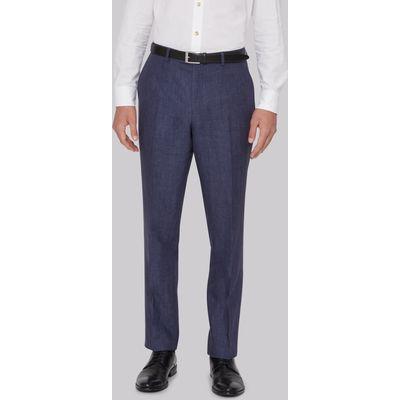 Hardy Amies Indigo Linen Trousers