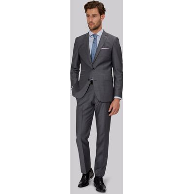 Moss 1851 Tailored Fit Mid Grey Mohair Suit