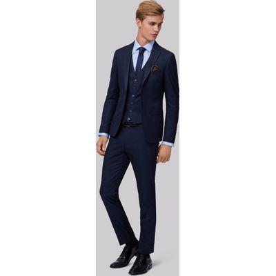 Moss London Skinny Fit Navy Semi Plain Jacket
