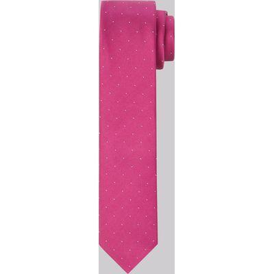 Moss London Premium Fuchsia Spot Silk Skinny Tie