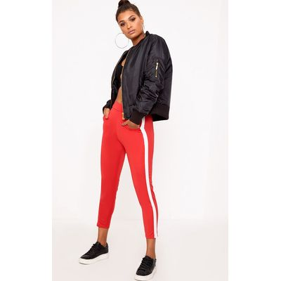 Red Side Stripe Trousers, Red