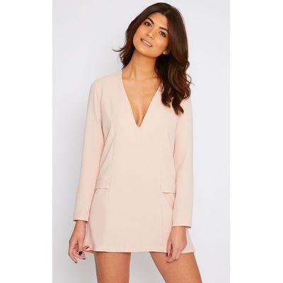 Jemima Nude Loose Fit Blazer Dress, Pink