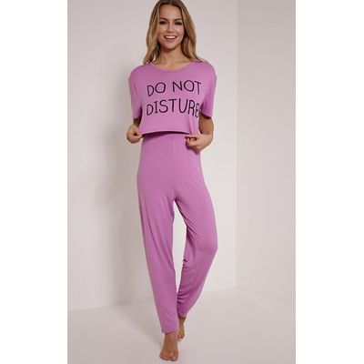 Do Not Disturb Lilac Pyjama Set, Purple