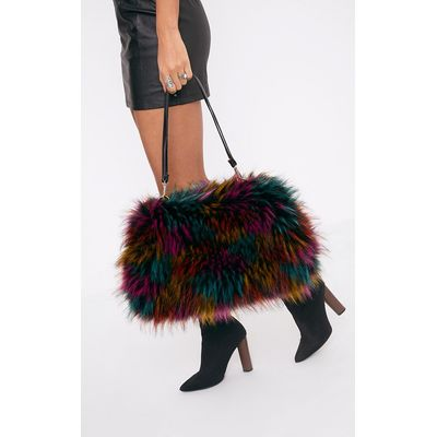 Jena Multi Fur Shoulder Bag, Multi