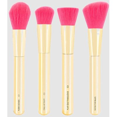 Skinny Dip Gold Rush Shut The Contour Brush Set, Yellow