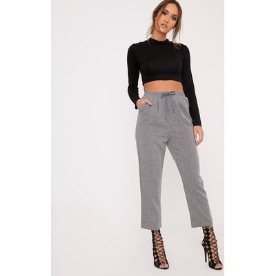 Diya Grey Casual Trousers, Grey