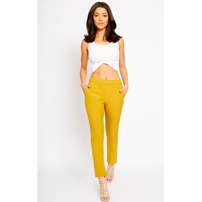 Kit Mustard Trousers, Yellow