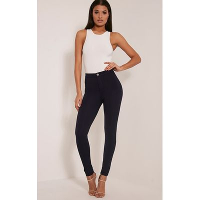 Serinna Navy High Waisted Jeggings, Blue