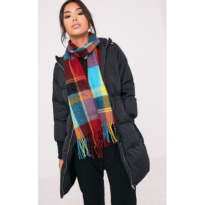 Bea Multi Check Scarf, Multi