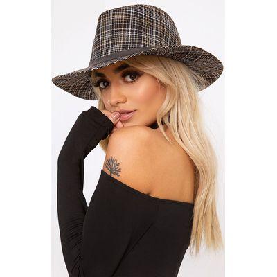 Black Tweed Style Fedora, Black