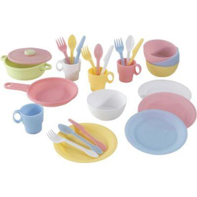 KidKraft 27 Piece Cookware Playset   Pastel - 0706943630273