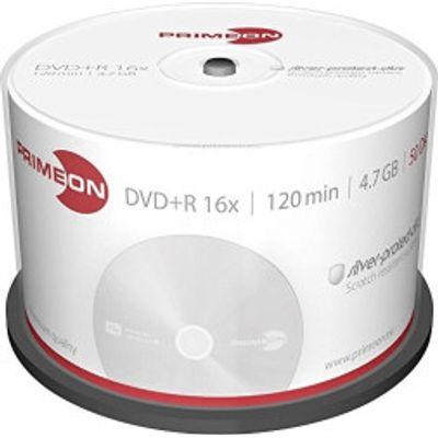 4260027612044 | Primeon DVD R Silver Protect Disc 4 7GB 16x 50pk Cakebox Store