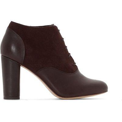 High Heel Leather Brogues